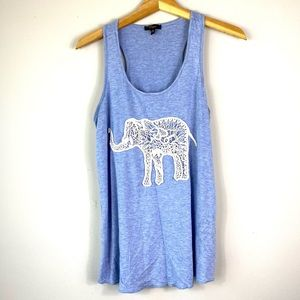 Blue Cupio Elephant Tank Top M